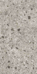 Bodenfliese Inalco Iseo gris 10x20 bush hammered grau
